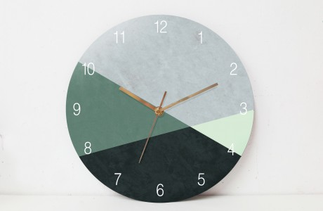 A stylish Nordic Wall Clock for sophisticated interiors/Minimalist  wall clock Concrete texture