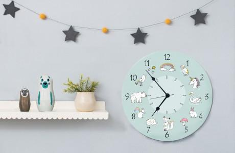 מתנות סוף שנה/מתנות לגני ילדים/שעון חיות עגול