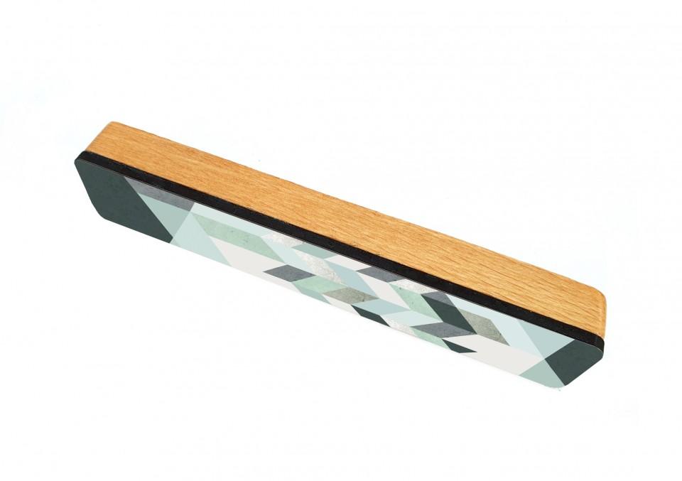 מזוזה מודרנית גאומטרית לדלת הבית/מזוזת עץ מעוצבת בסגנון מנימליסטי
