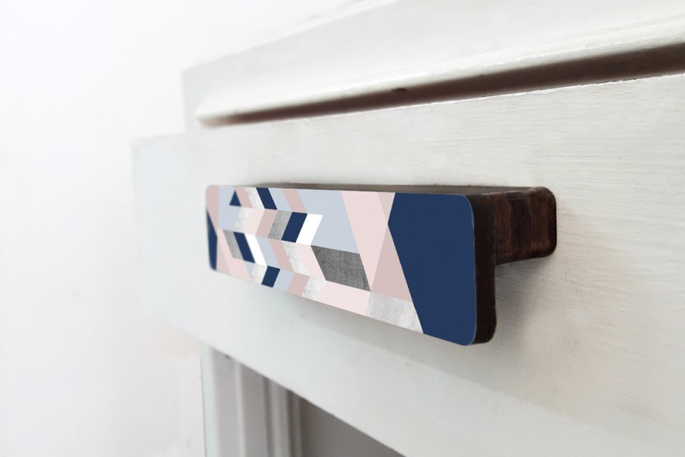 Cabinet Handle Pull/ Drawer Handle Pull /Dresser Handle Pull/Scandinavia Blue and Pink Design
