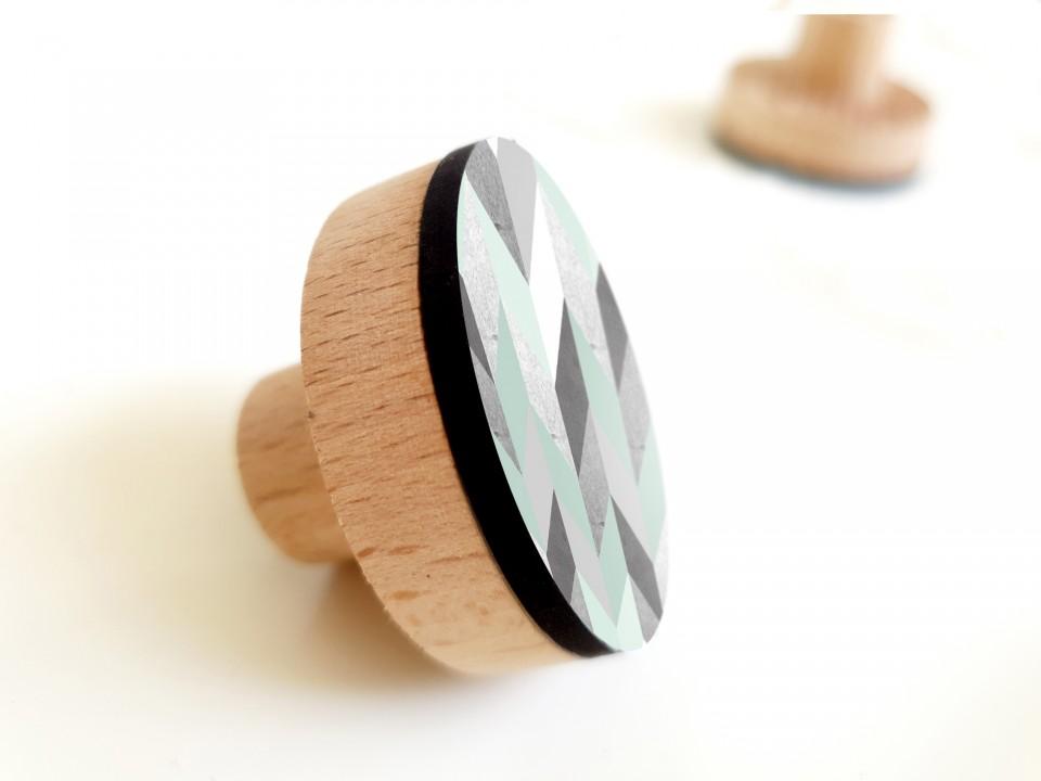 סט ידיות מעוצבות בסגנון מינימליסטי/ידיות עץ עגולות בעיצוב סקנדינבי/ידיות לשידת מגירות/ידיות לארון//