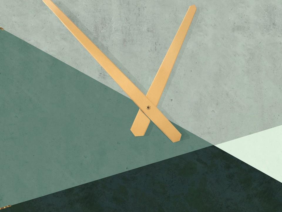 שעון קיר בעיצוב נורדי/שעון קיר גדול לסלון/ שעון דקורטיבי למטבח/דקורציה לבית/ שעון דמוי בטון