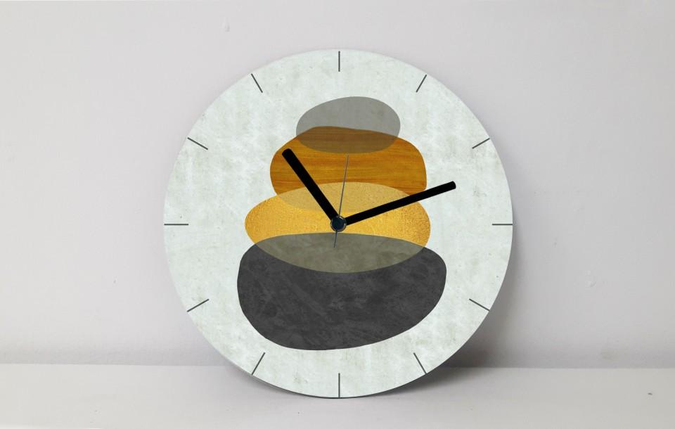 שעון קיר עגול גדול/שעון קיר לסלון/ שעון דקורטיבי למטבח/שעון קיר למשרד/ שעון דגם אבסטרקט