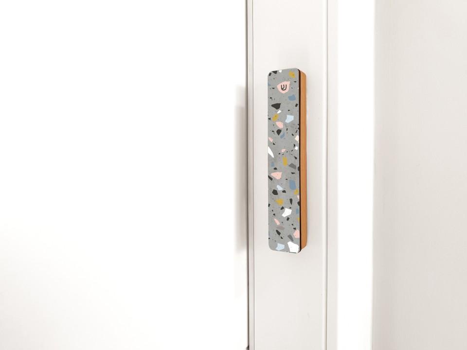 מזוזה טרצו לדלת הבית/מזוזה מעוצבת לכניסה לבית/ בית מזוזה מהודר במראה עכשוי דמוי טרצו