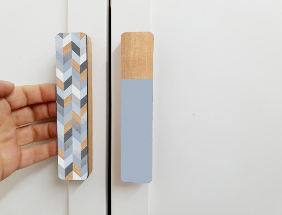 ידיות מעוצבות/ידית עץ ארוכה/ידית למגירה ולדלת של ארון/עיצוב הבית/ידיות לרהיטים/עיצוב מינימליסטי