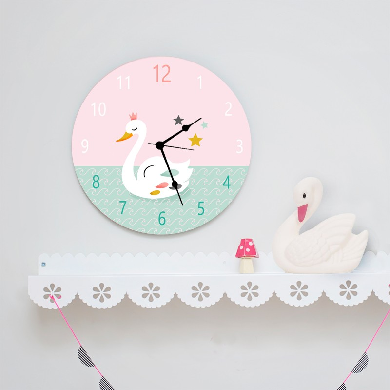 Round Wall Clock For Girls Room