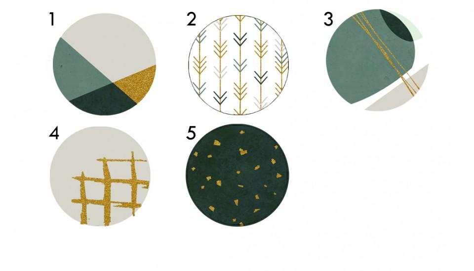 מתלי קיר לבית/סט של 5 מתלי קיר בעיצוב סקנדינבי /מתלי קיר לעיצוב הבית