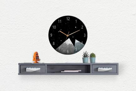 Kids Wall Clock/Round wooden Wall Clock/ kids room decor Native Indian wall art nursery