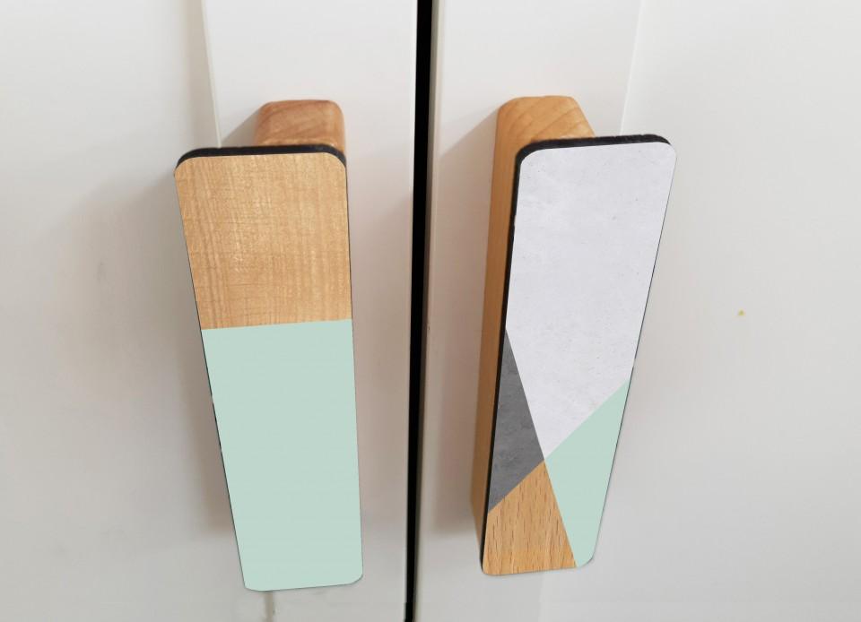 ידיות עץ מעוצבות/ידיות מודרניות לרהיטים/ידית למגירה ולדלת של ארון/עיצוב סקנדינבי