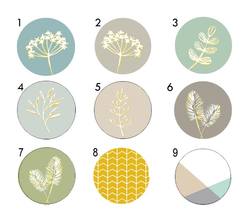 Set of floral drawer Knobs/Wooden Drawer Pulls/Cupboard Knobs/Dresser Pulls /Furniture Knobs