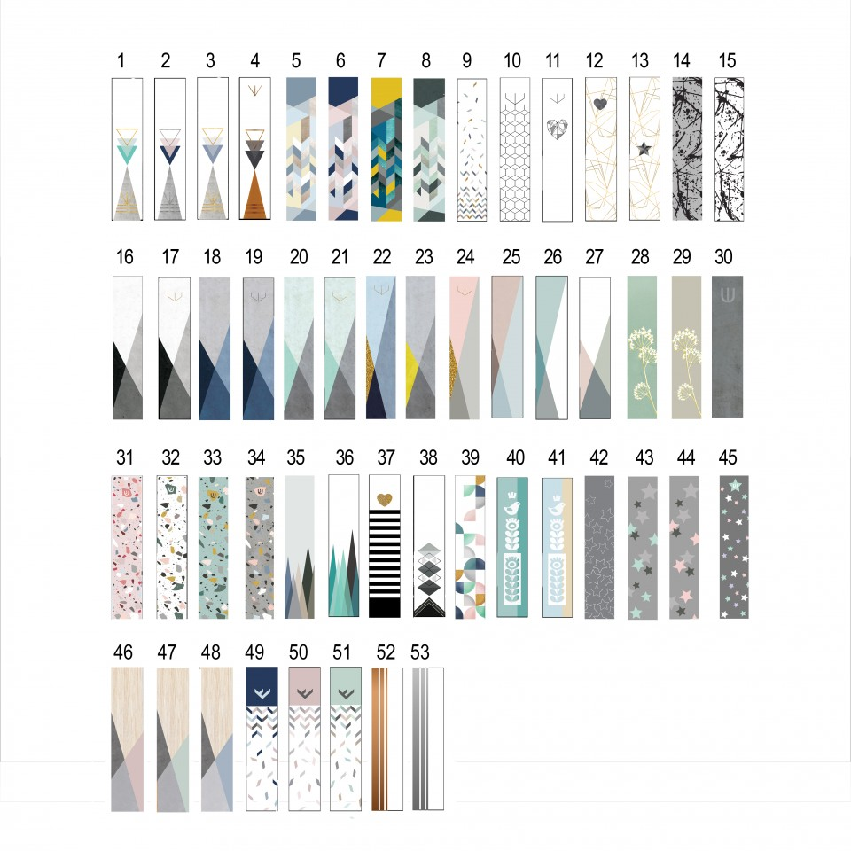 שש מזוזות מעוצבות לבחירה מתוך הקטלוג הכללי//בית מזוזה מודרני מנימלסטי במבחר צבעים ודוגמאות