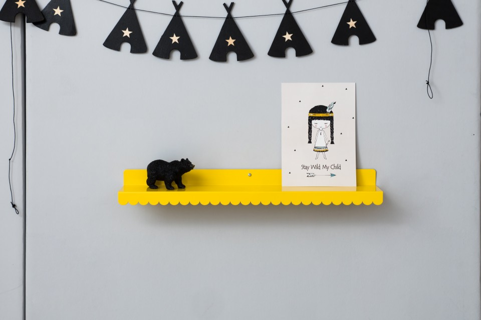 תמונה מאוירת לחדר של ילדה/עיצוב חדר תינוקות בהשראה אינדיאנית