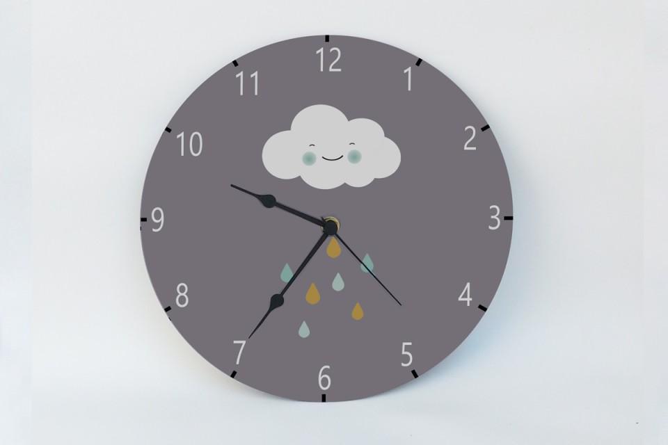 שעון קיר עגול/עיצוב מינימליסטי לחדרי ילדים/עיצוב סקנדינבי/