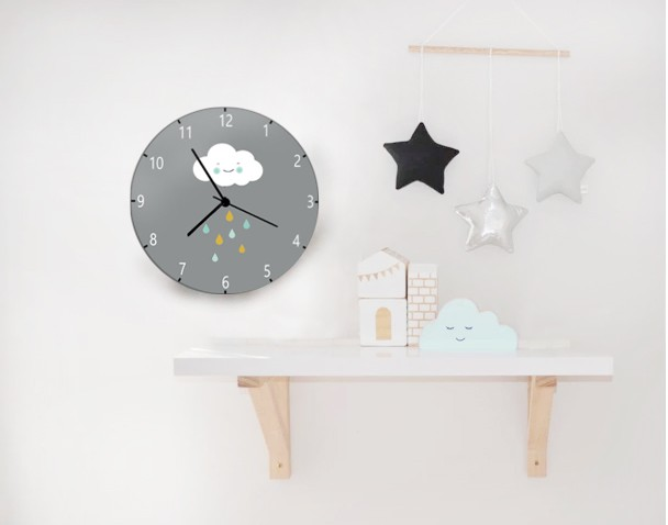 Kids Wall Clock Nursery Childrens C